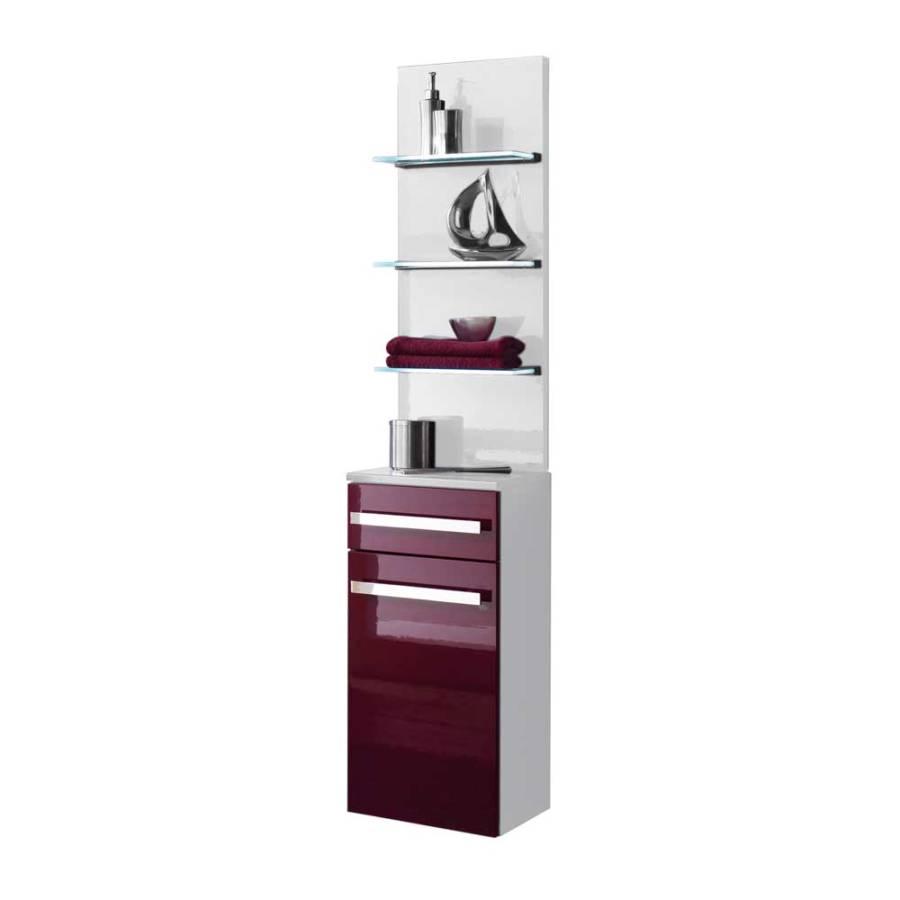 badschrank sandja 2 teilig wei violett hochglanz home24. Black Bedroom Furniture Sets. Home Design Ideas