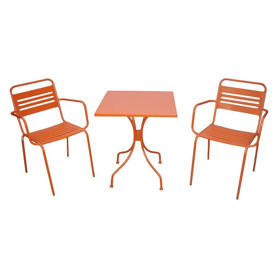 ensemble de mobilier de balcon jovy 3 l ments acier. Black Bedroom Furniture Sets. Home Design Ideas