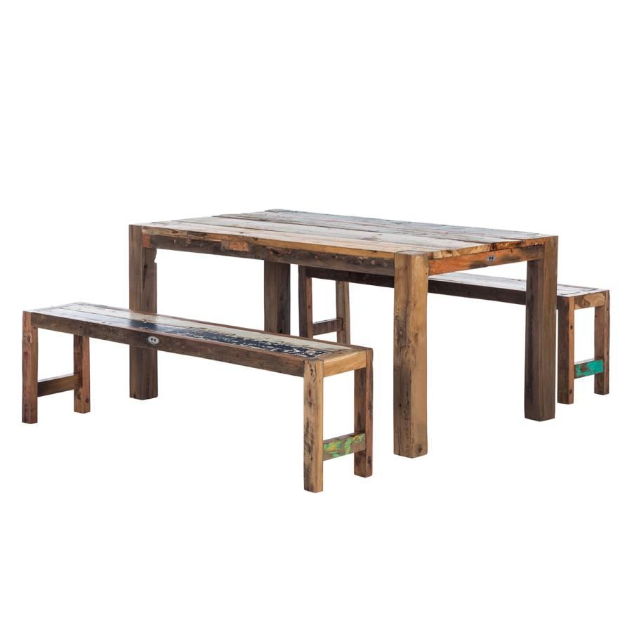 ensemble de mobilier de balcon seaside 3 l ments teck. Black Bedroom Furniture Sets. Home Design Ideas