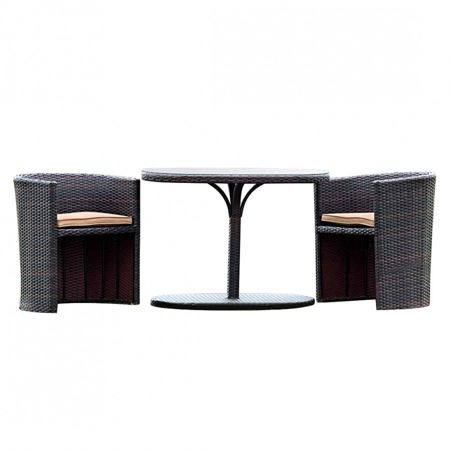 balkonset ancona 3 teilig polyrattan braun. Black Bedroom Furniture Sets. Home Design Ideas
