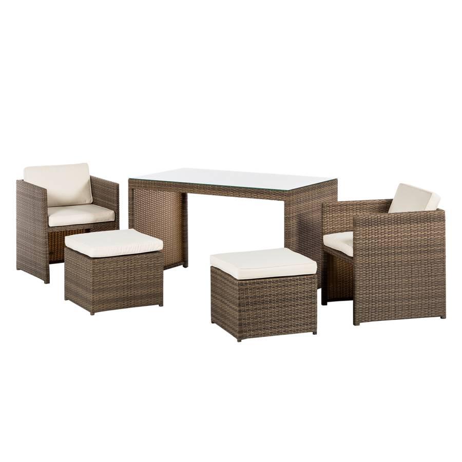 balkonset merano 11 teilig kunststoffgeflecht naturgrau home24. Black Bedroom Furniture Sets. Home Design Ideas