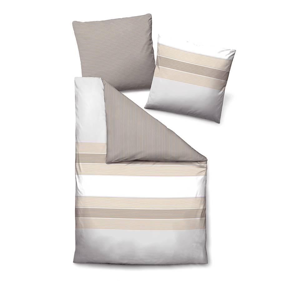 baumwoll jersey bettw sche grau wei gestreift home24. Black Bedroom Furniture Sets. Home Design Ideas