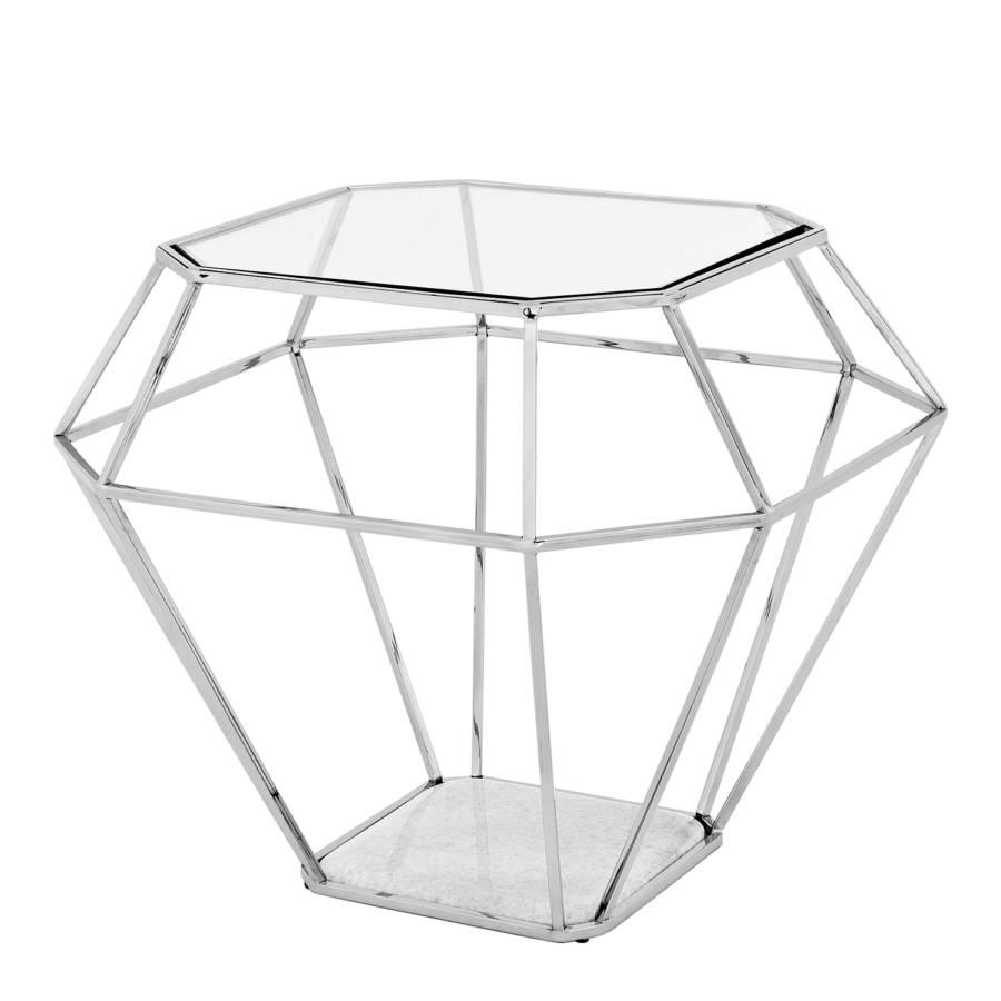 Beistelltisch asscher stahl marmor glas home24 for Beistelltisch stahl