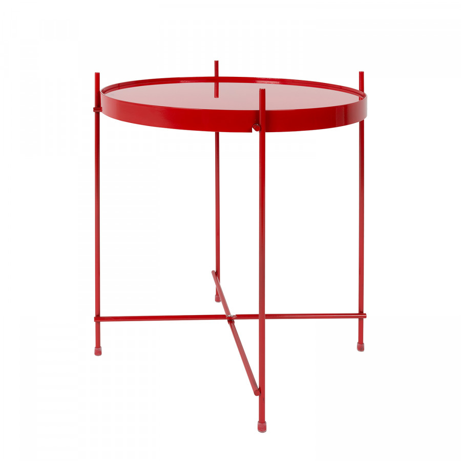 Table d 39 appoint cupid fer verre rouge for Table d appoint fer forge