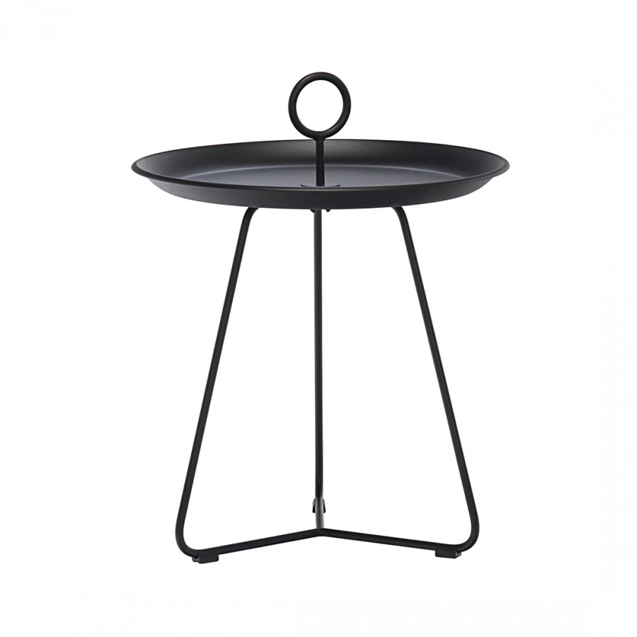 beistelltisch eyelet stahl pulverbeschichtet schwarz. Black Bedroom Furniture Sets. Home Design Ideas