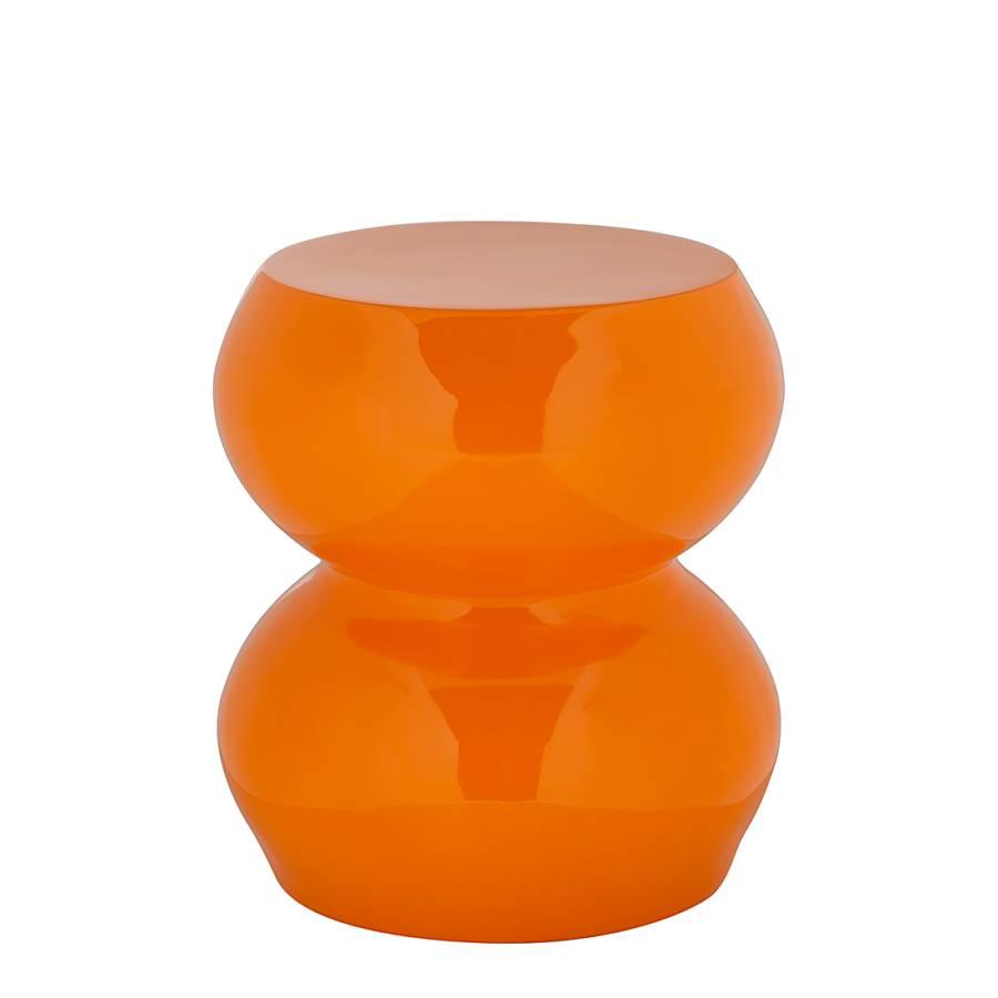 Beistelltisch Fun 2 - Hochglanz Orange : Home24