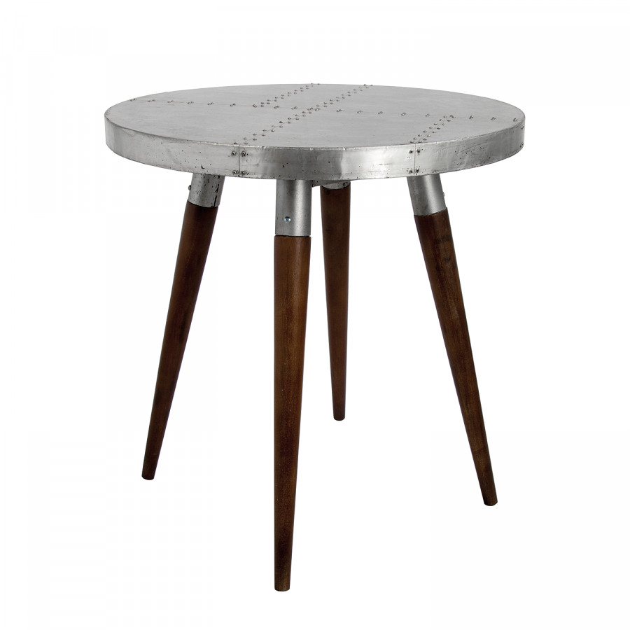 beistelltisch industry ii metall buche massiv home24. Black Bedroom Furniture Sets. Home Design Ideas