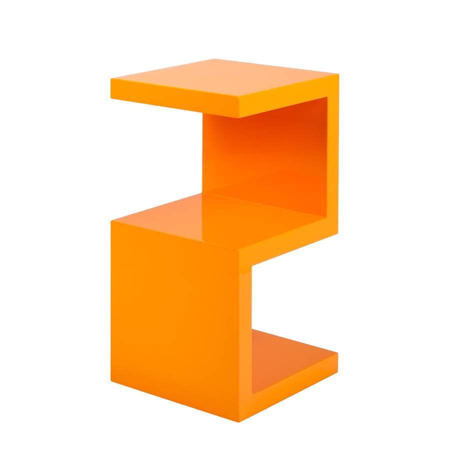 Table d 39 appoint snake orange for Beistelltisch orange