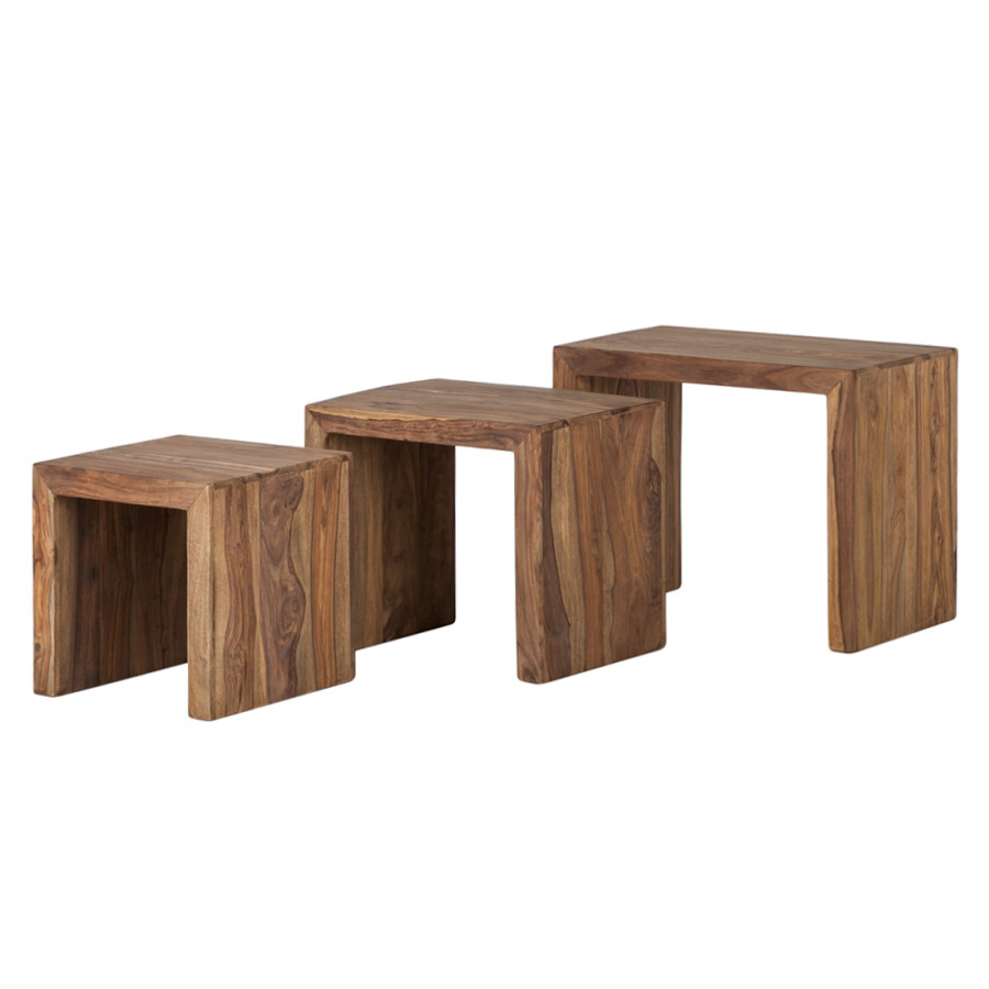table cubique yoga bois de sheesham et noyer. Black Bedroom Furniture Sets. Home Design Ideas