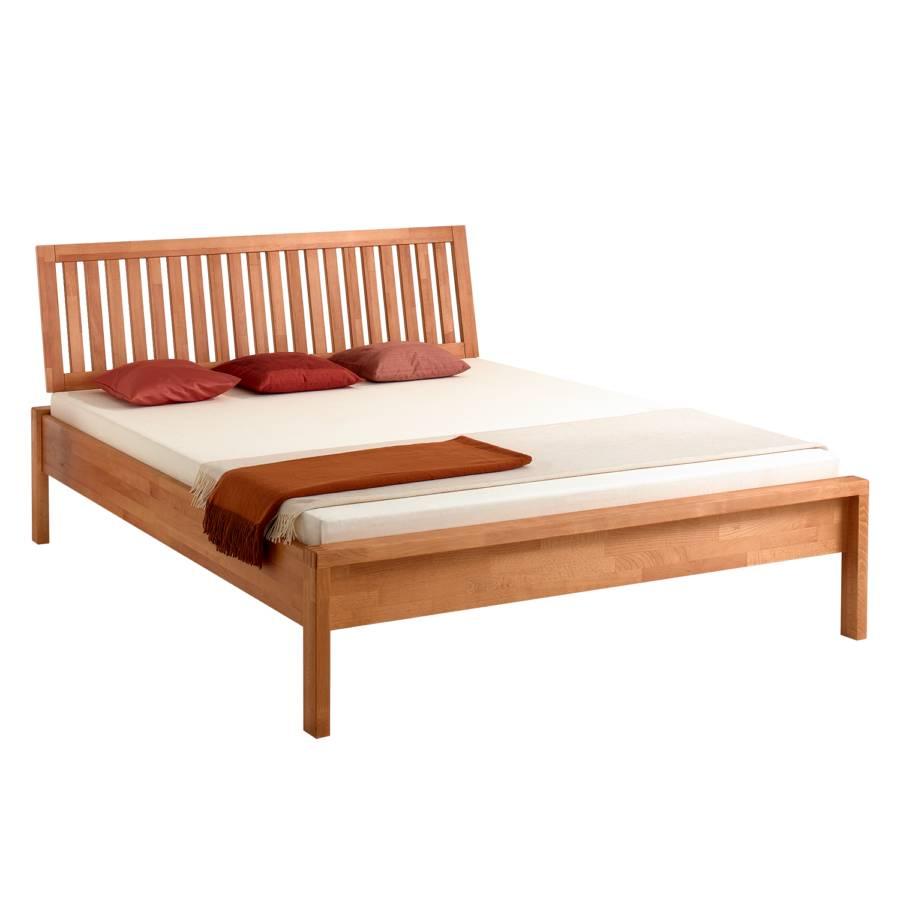 bett fritz ii buche massiv home24. Black Bedroom Furniture Sets. Home Design Ideas