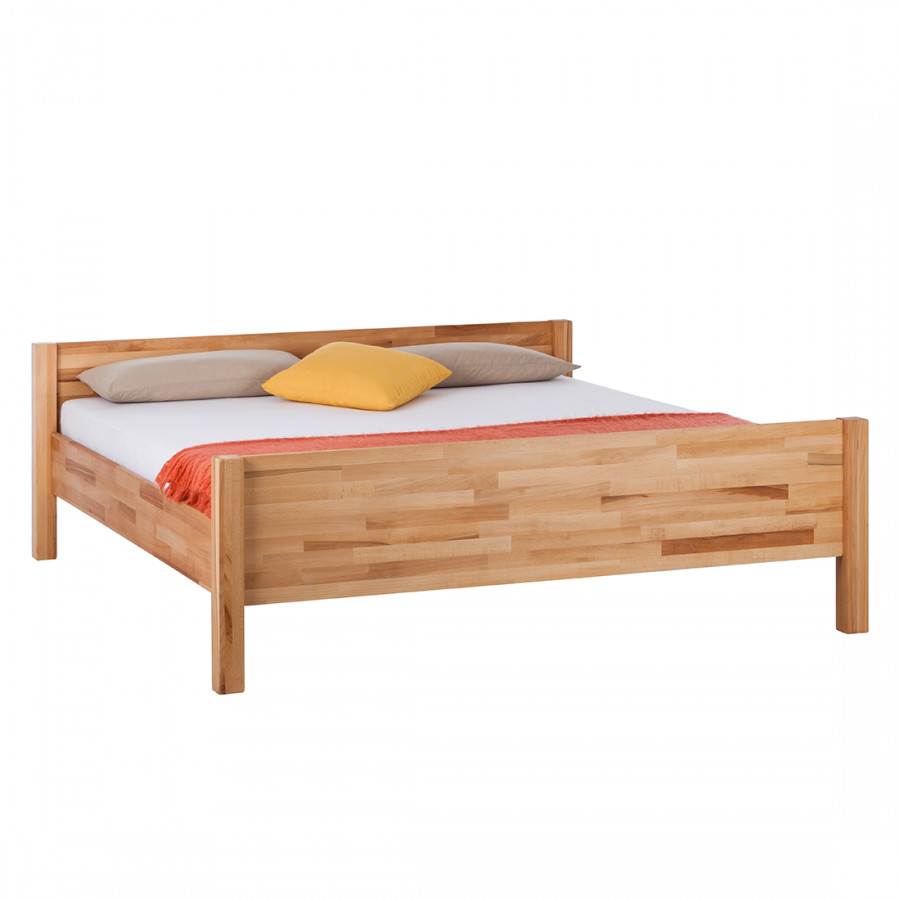 Massief houten bed john - Massief houten platform bed ...