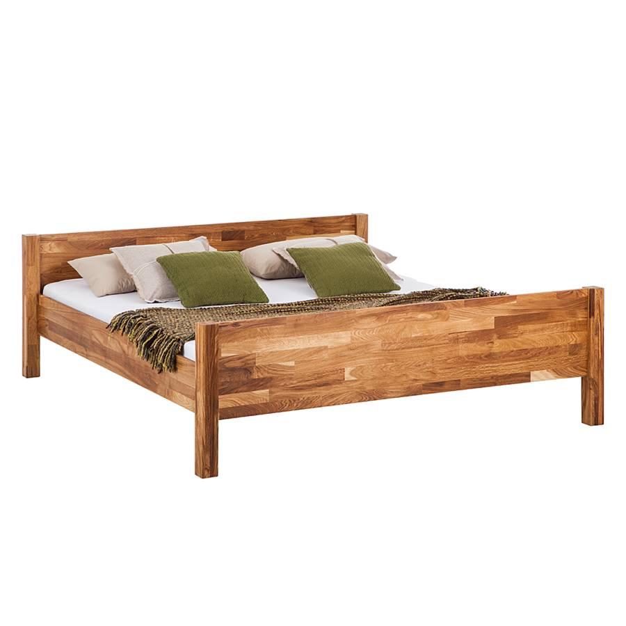 massivholzbett johnwood eiche massiv home24. Black Bedroom Furniture Sets. Home Design Ideas