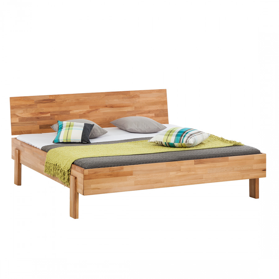 Massief houten bed zacwood - Massief houten platform bed ...