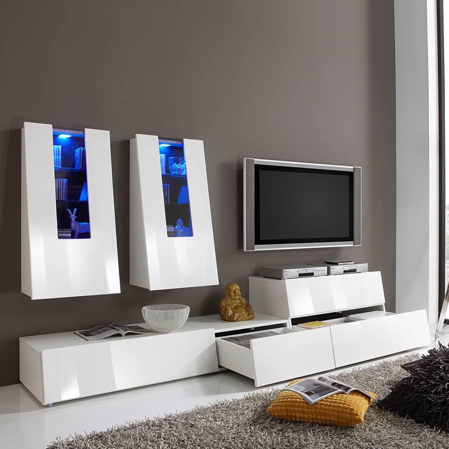 bellinzona wohnwand f r ein modernes heim home24. Black Bedroom Furniture Sets. Home Design Ideas