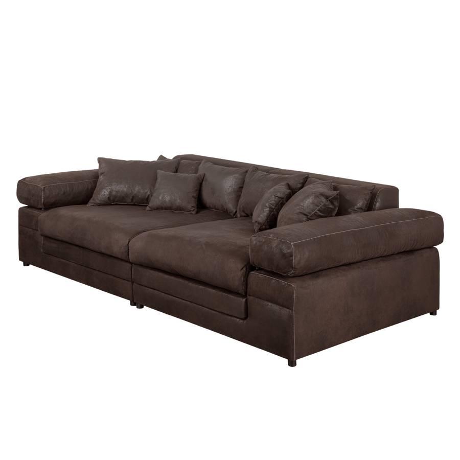 grand canap naomi iii aspect cuir vieilli. Black Bedroom Furniture Sets. Home Design Ideas