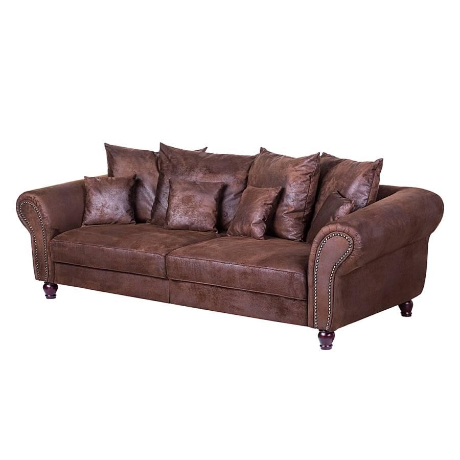 Nuovoform xxl sofa f r ein modern l ndliches heim home24 - Sofa antiklederoptik ...