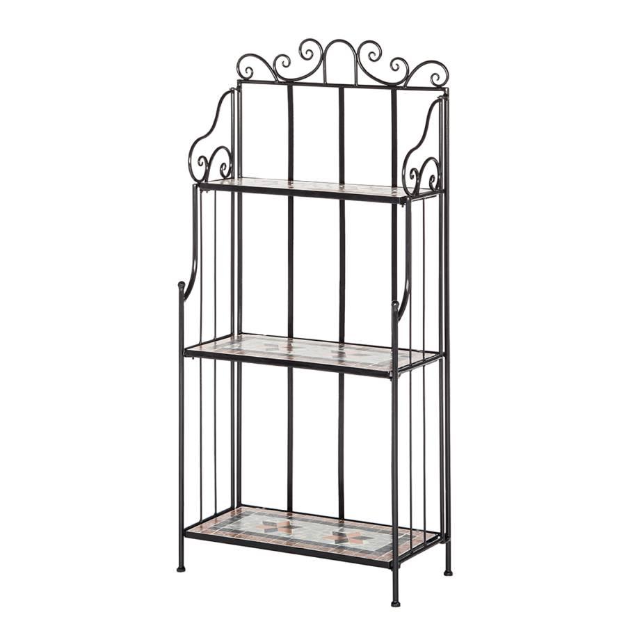 blumenregal tosca metall schwarz. Black Bedroom Furniture Sets. Home Design Ideas
