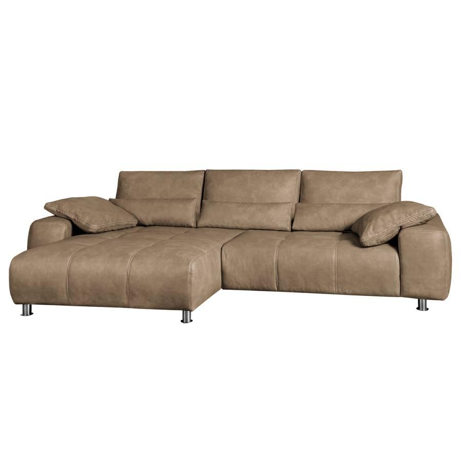 boxspring ecksofa kofa mit schlaffunktion kunstleder sahara home24. Black Bedroom Furniture Sets. Home Design Ideas