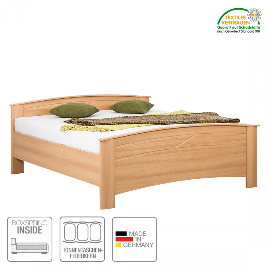 boxspring inside bett paloma iv samerbergbuche dekor home24. Black Bedroom Furniture Sets. Home Design Ideas