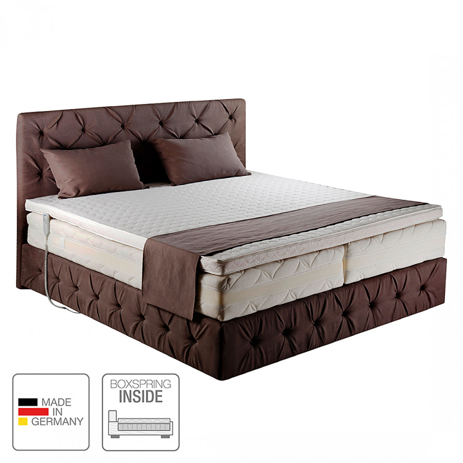 lit boxspring inside rowena electrique tissu limon. Black Bedroom Furniture Sets. Home Design Ideas
