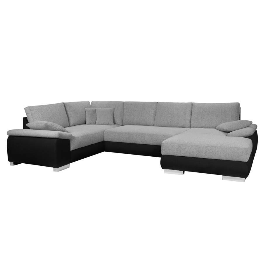 boxspring wohnlandschaft oak strukturstoff schwarz. Black Bedroom Furniture Sets. Home Design Ideas
