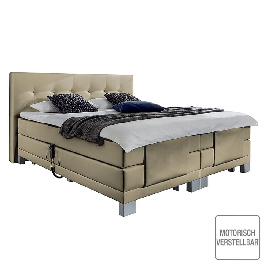 boxspringbett diamond night mit motor hellbraun kaufen home24. Black Bedroom Furniture Sets. Home Design Ideas