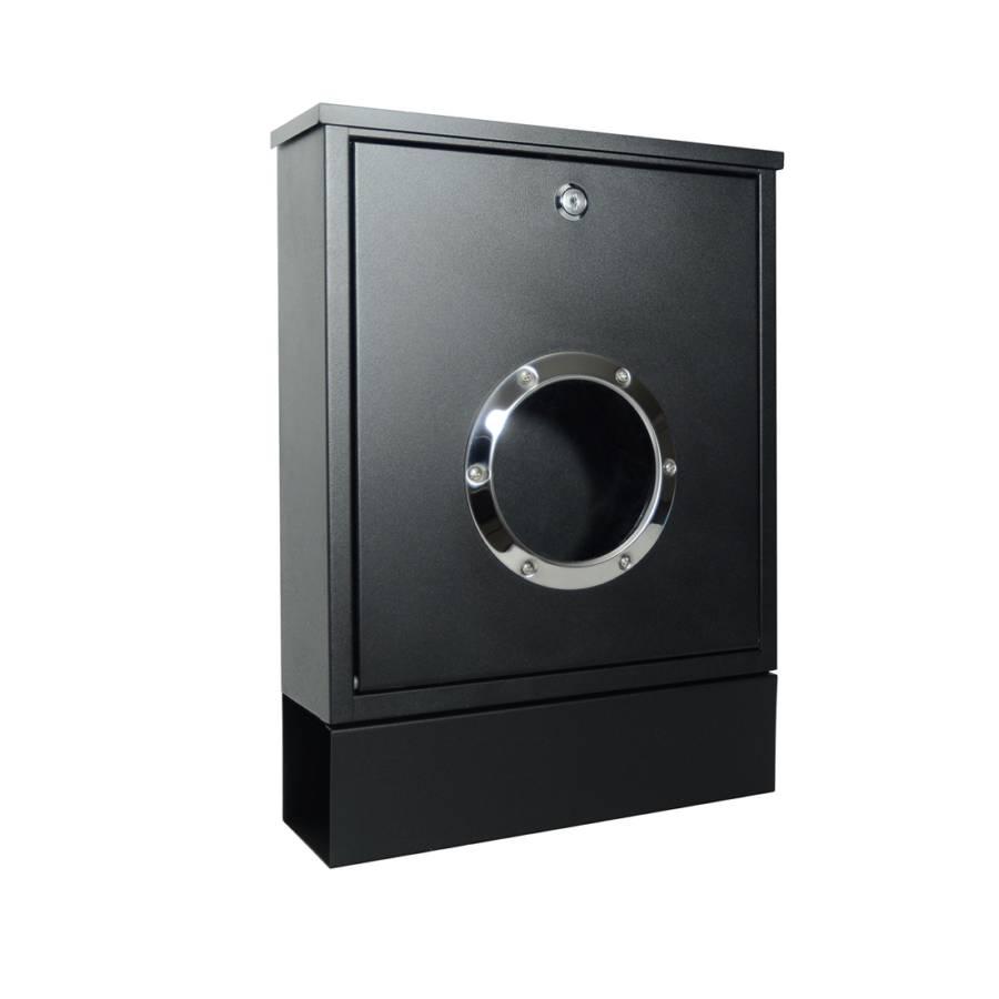 briefkasten letterman mini mit zeitungsrolle stahl. Black Bedroom Furniture Sets. Home Design Ideas