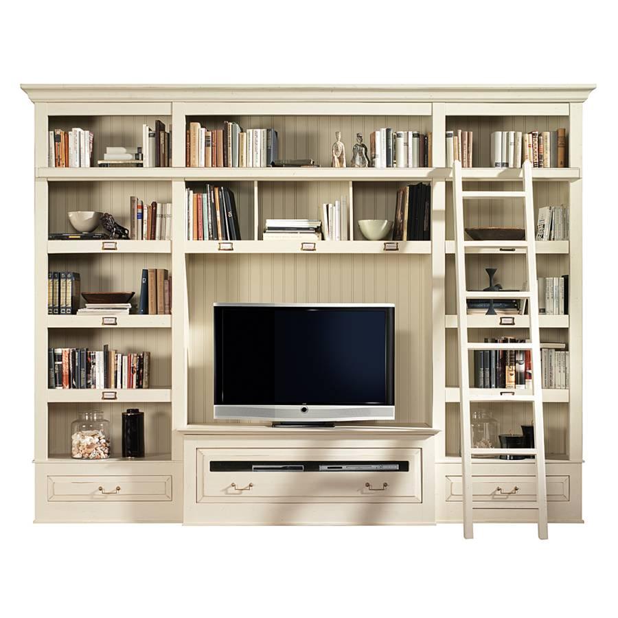 b cherregal azjana inkl leiter pinie massiv home24. Black Bedroom Furniture Sets. Home Design Ideas