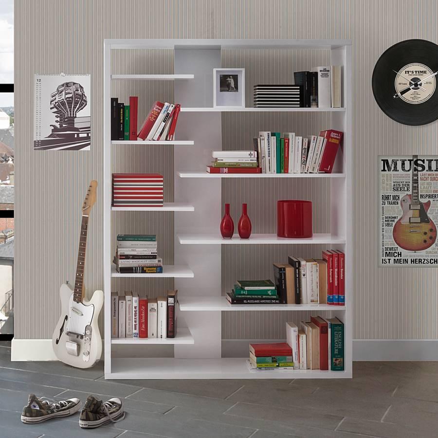 b cherregal luca hochglanz wei lackiert home24. Black Bedroom Furniture Sets. Home Design Ideas
