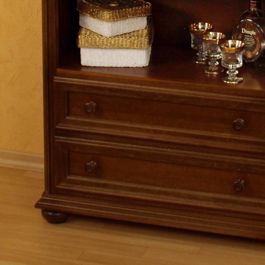 b cherregal turino nussbaum antik home24. Black Bedroom Furniture Sets. Home Design Ideas