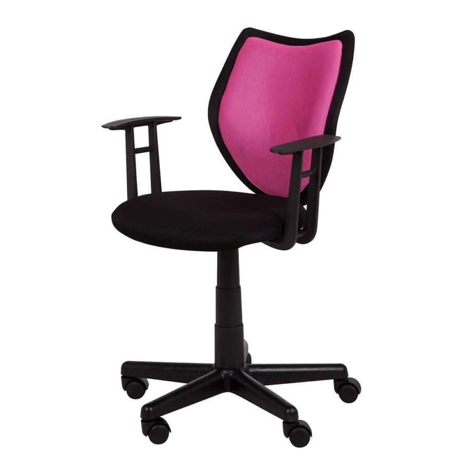 Chaise de bureau pivotante eric textile - Chaise de bureau rose ...