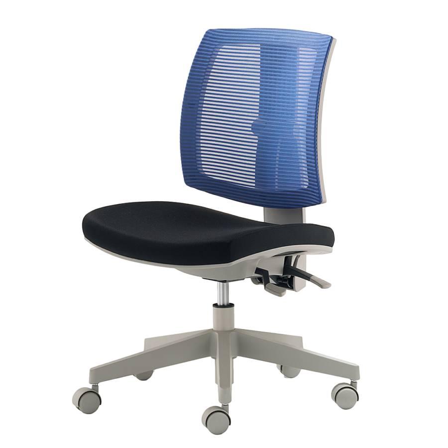 Chaise de bureau pivotante whippy bleu noir - Chaise de bureau bleu ...