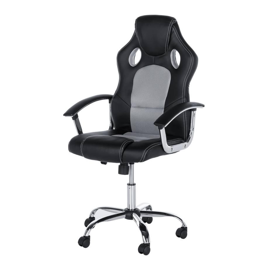Chaise de bureau pivotante yanna imitation cuir tissu - Chaise de bureau pivotante ...