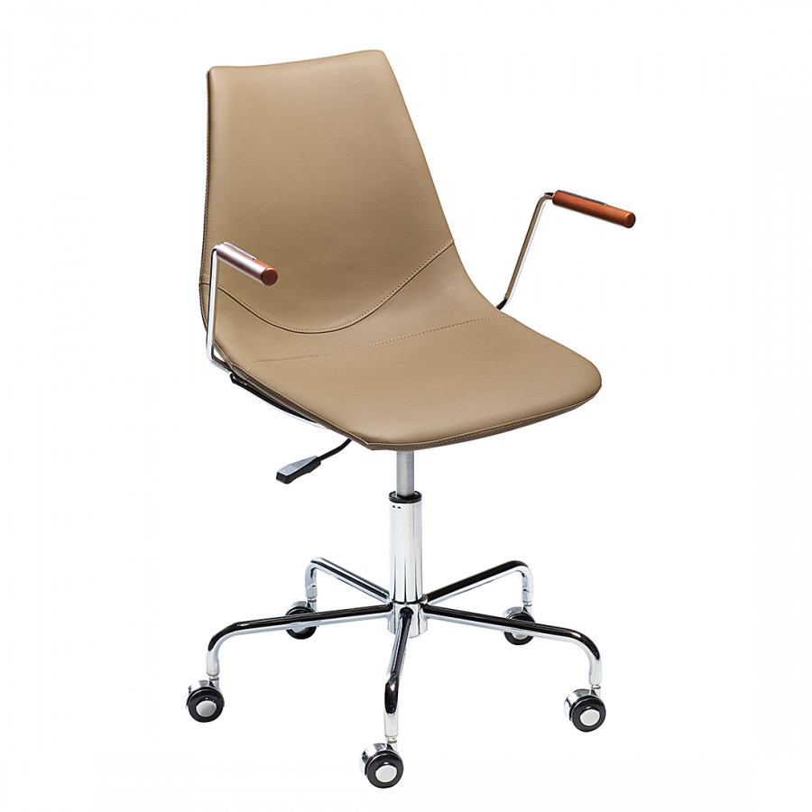 Chaise de bureau cros beige - Chaise de bureau beige ...