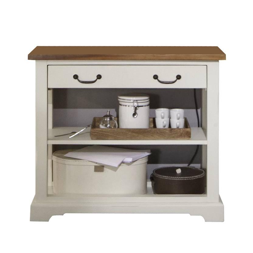 regal hereos akazie teilmassiv wei cognacfarben. Black Bedroom Furniture Sets. Home Design Ideas