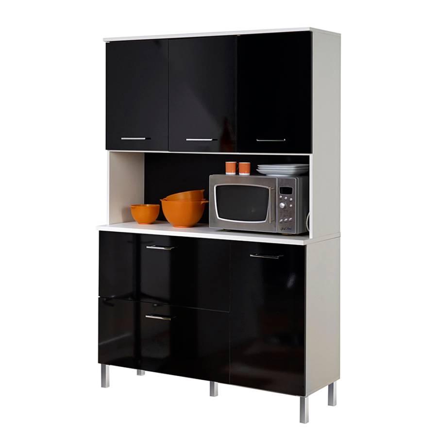 buffetschrank reah schwarz hochglanz wei home24. Black Bedroom Furniture Sets. Home Design Ideas