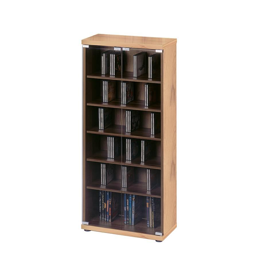 cd dvd schrank tampa mit grauglast ren online kaufen home24. Black Bedroom Furniture Sets. Home Design Ideas