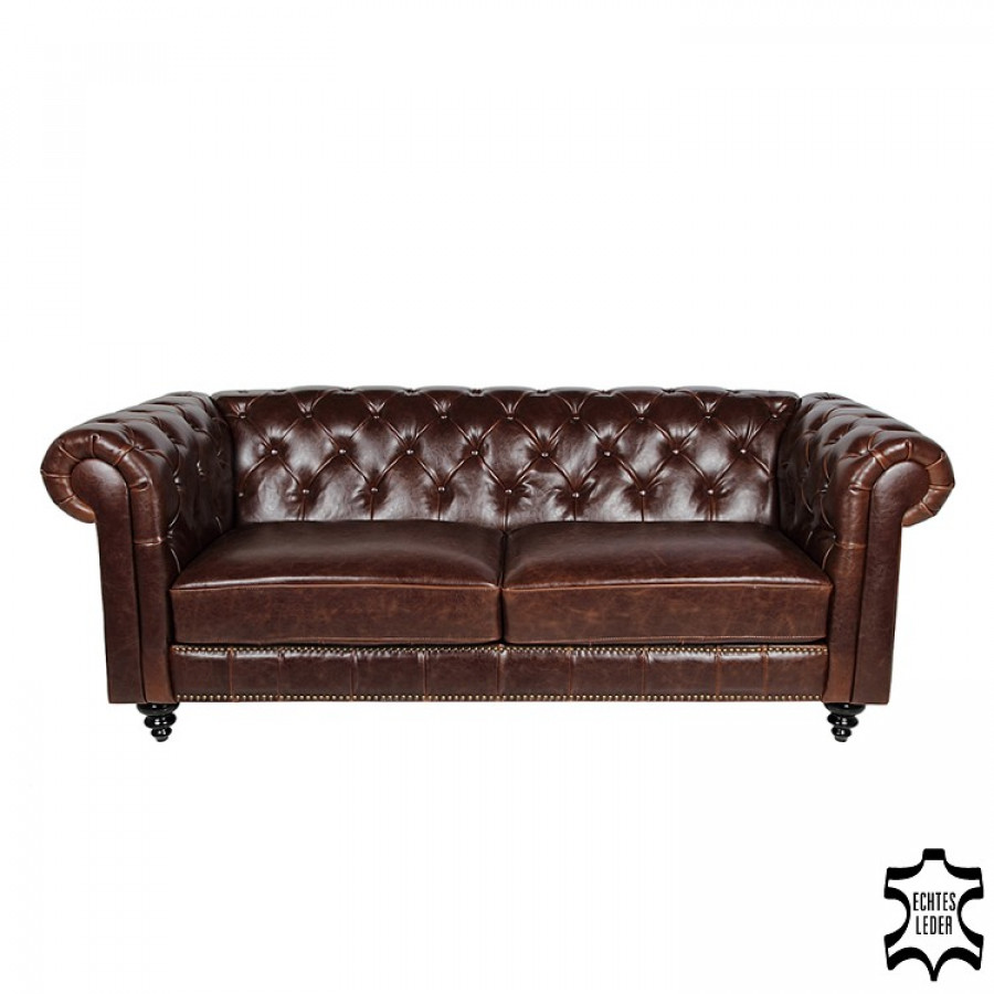 Chesterfield sofa von furnlab bei home24 bestellen home24 for Schaukelstuhl leder braun