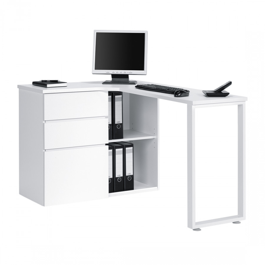 Bureau d 39 angle pour ordinateur filipo avec porte - Bureau d angle pour ordinateur ...