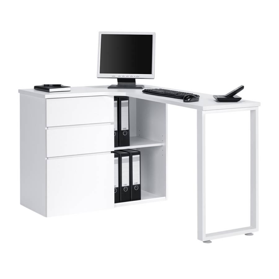 Bureau d 39 angle pour ordinateur filipo avec porte - Bureau ordinateur angle ...