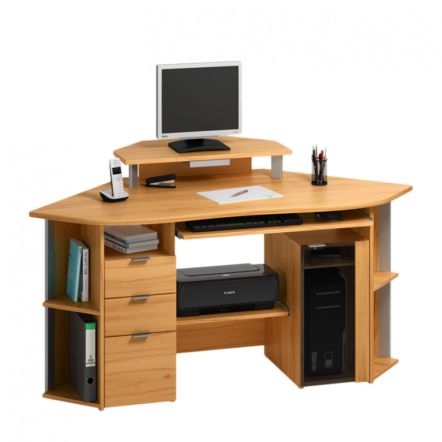 Bureau d ordinateur d angle maison design for Bureau informatique angle