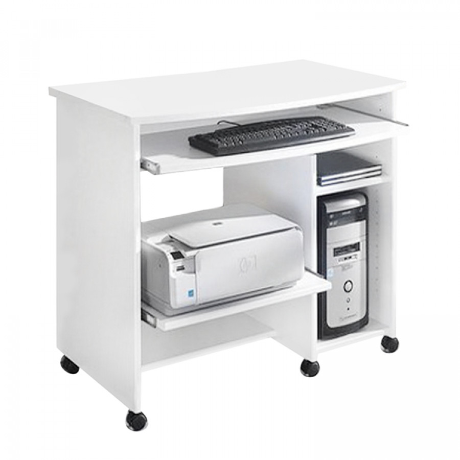 Bureau pour ordinateur ashley blanc for Bureau coin pour ordinateur