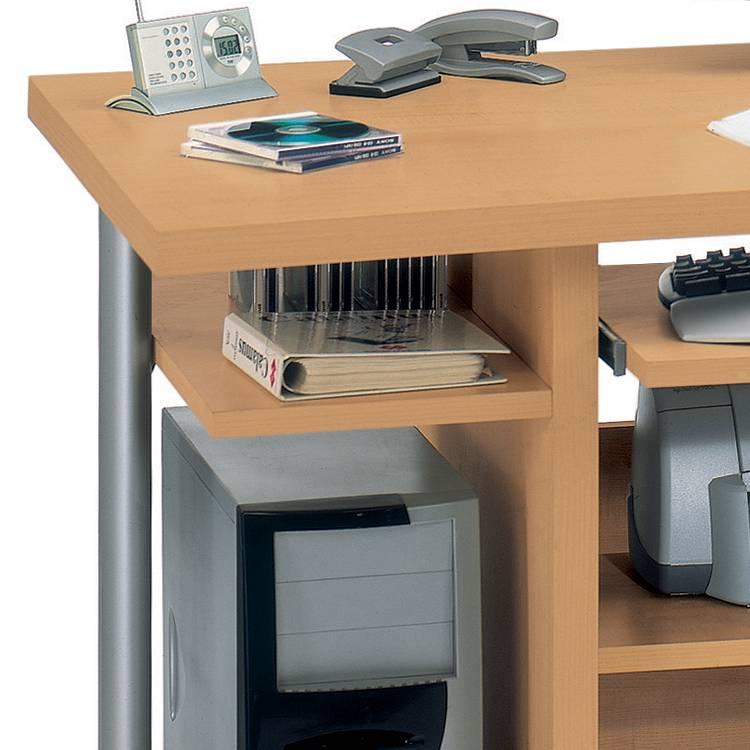 Computertisch cpl 240 buche dekor home24 for Computertisch buche