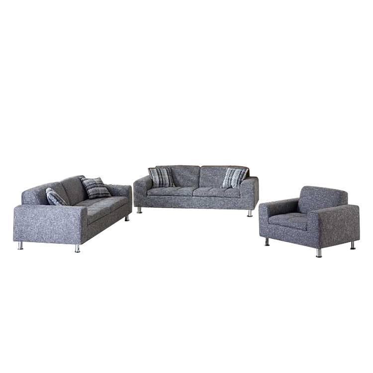 polstergarnitur concord 3 2 1 webstoff grau home24. Black Bedroom Furniture Sets. Home Design Ideas