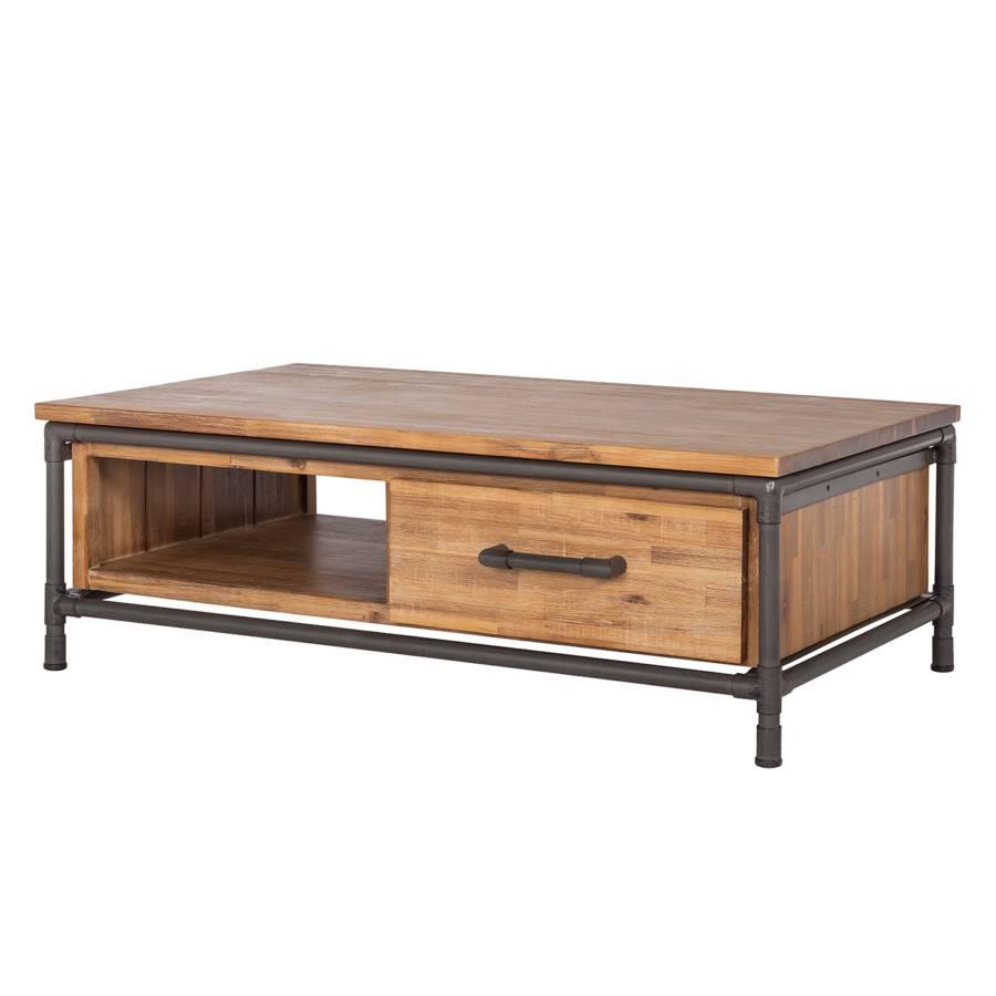 Table basse atelier i acacia partiellement massif for Table basse acacia massif