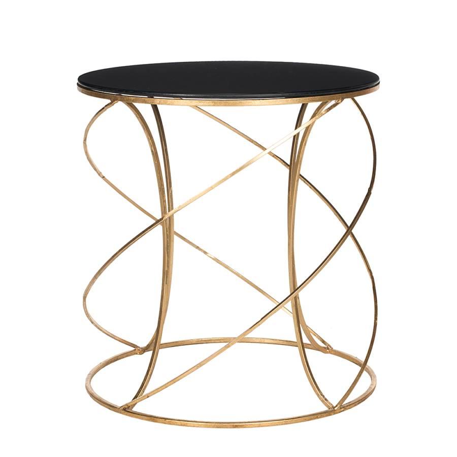 table basse cagney dor noir. Black Bedroom Furniture Sets. Home Design Ideas