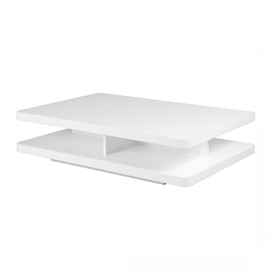 Table Basse Canada Blanc Brillant