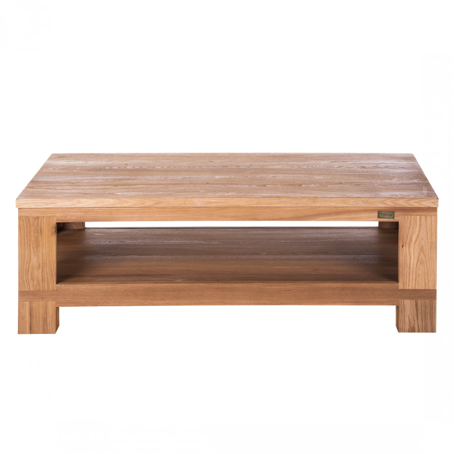 Table basse damar orme partiellement massif huil for Table basse en orme