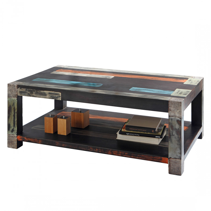 Table basse goa multicolore - Table basse multicolore ...
