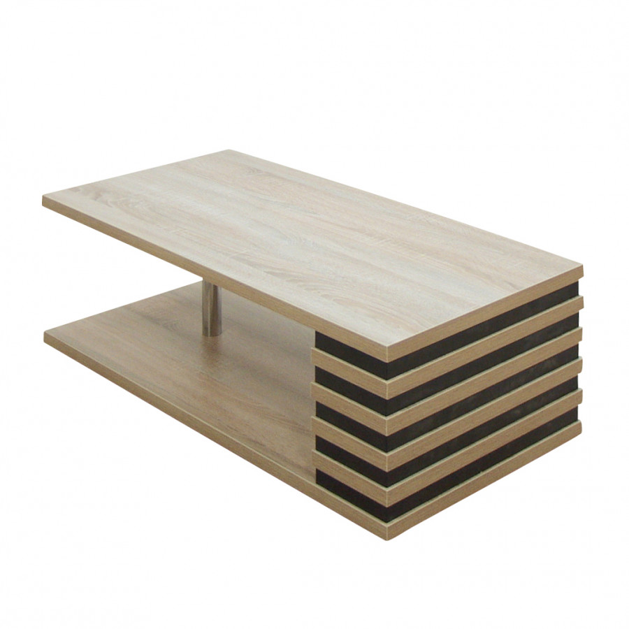 couchtisch helsinki farbmix eiche s gerau schwarz home24. Black Bedroom Furniture Sets. Home Design Ideas